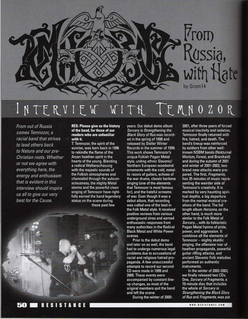Resistance Magazine, Issue #23, Fall 2004
